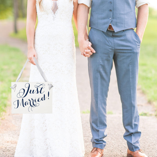 Just Married | Hanging Wedding Banner