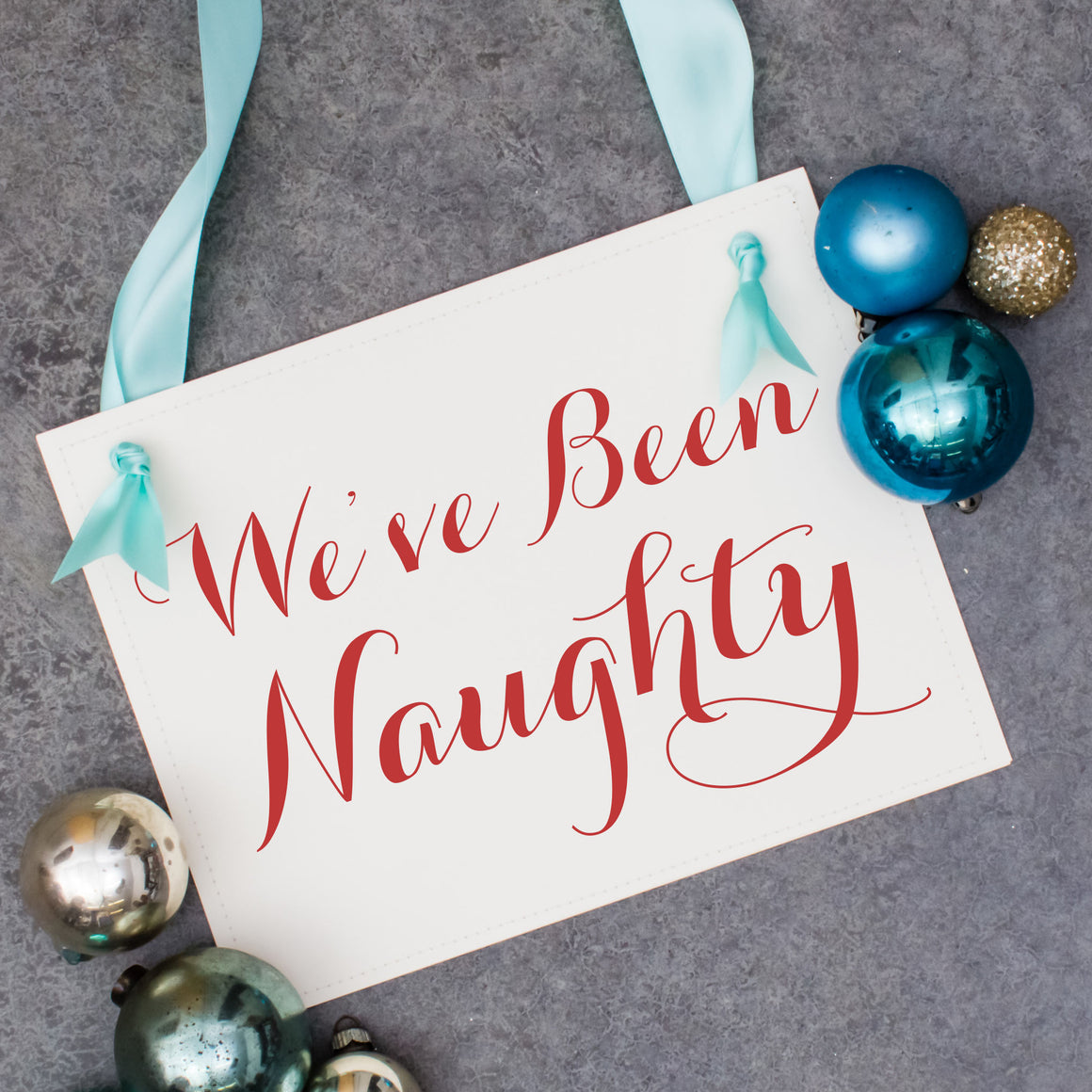 We've Been Naughty Christmas Pregnancy Sign