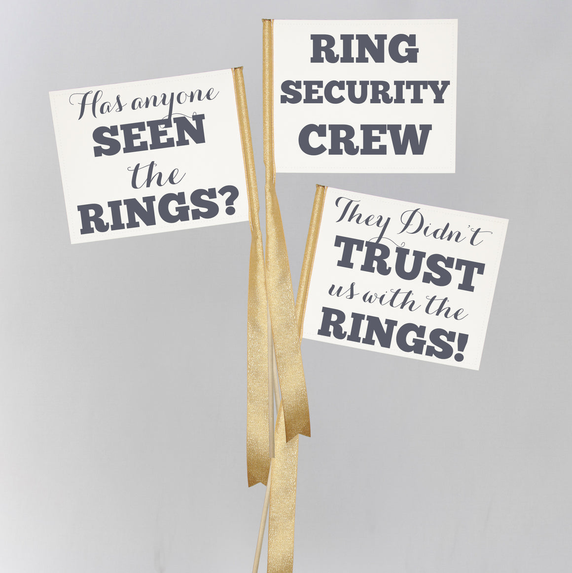 Ring Security Flags (Set of 3)