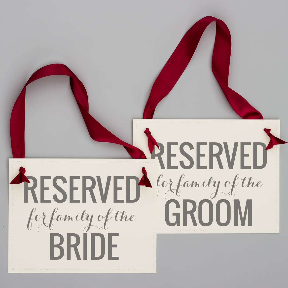 Reserved for bride and groom family