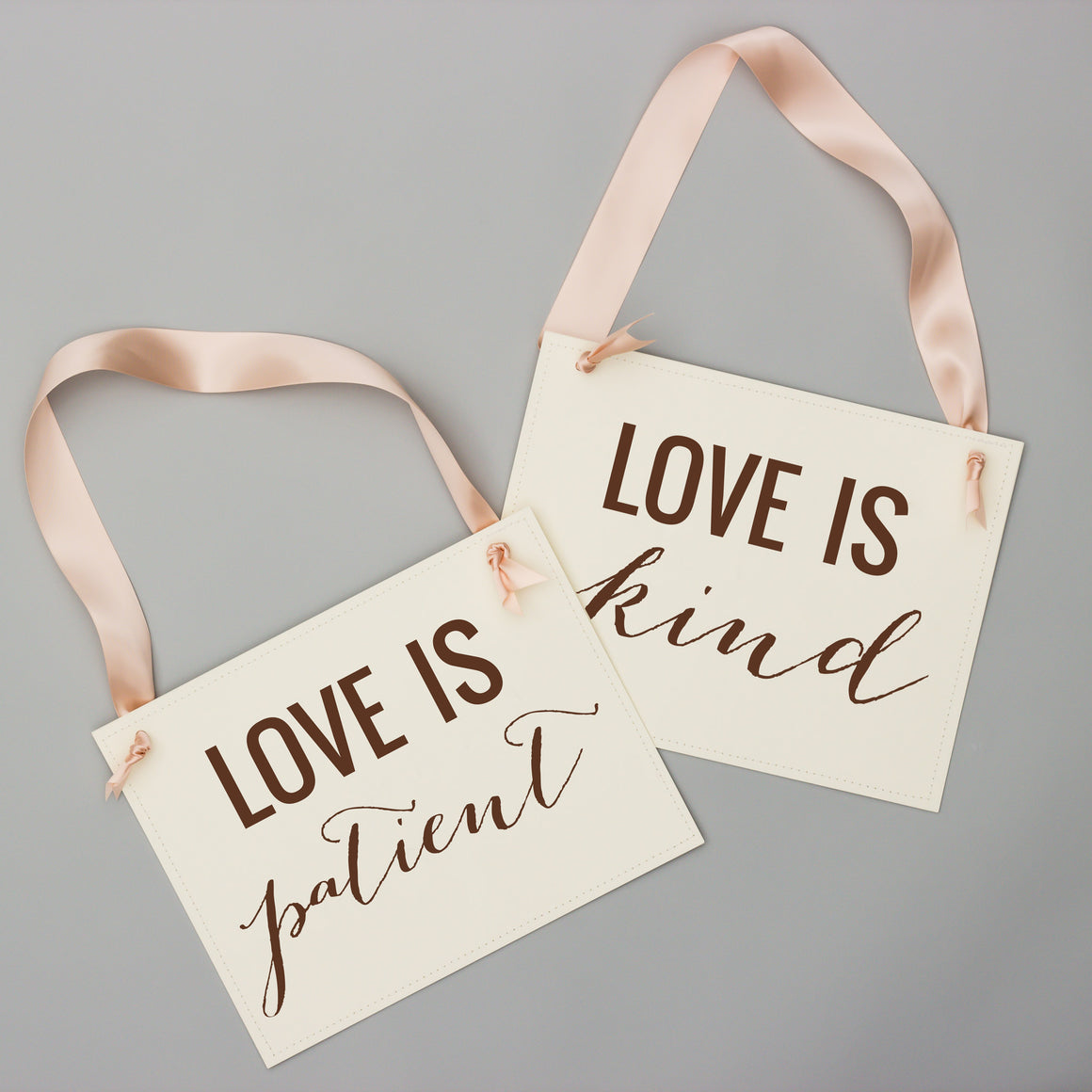 Love Is Patient Love Is Kind | Set of 2 Signs