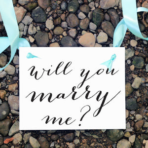 Will you marry me proposal sign