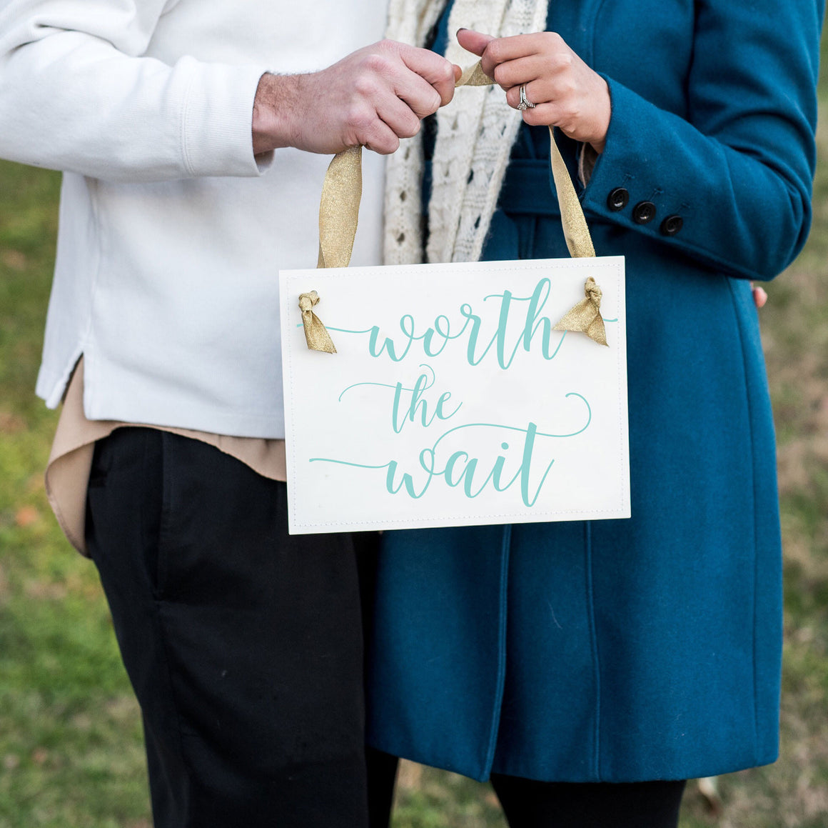 Worth The Wait sign for new baby photo by Lindsey Hinkley