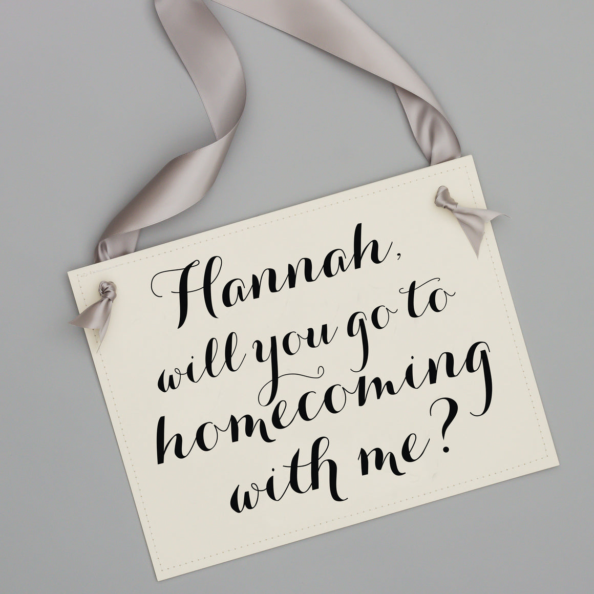 personalized homecoming invite sign