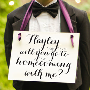 Personalized will you go to homecoming with me sign