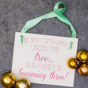 Christmas Pregnancy Announcement | Best Presents Aren't Under The Tree
