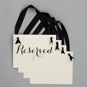 Reserved Signs (Set of 4)