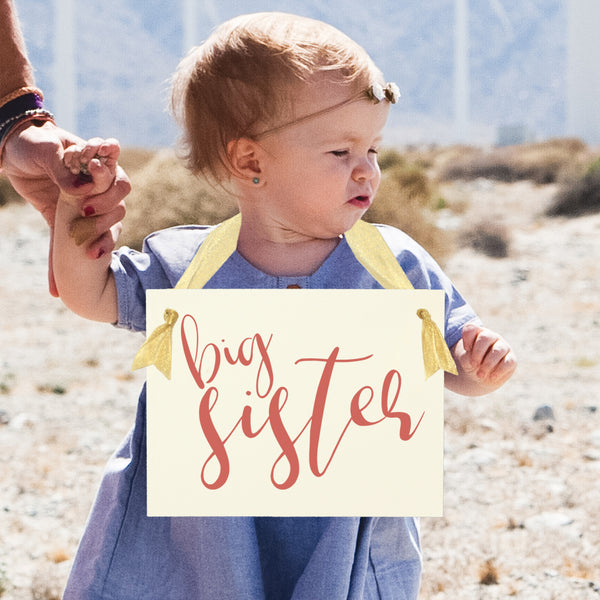 Big Sister or Brother Sign