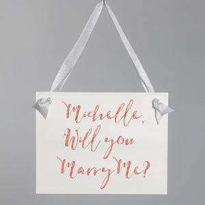 Proposal Banner | Personalized Will You Marry Me Sign