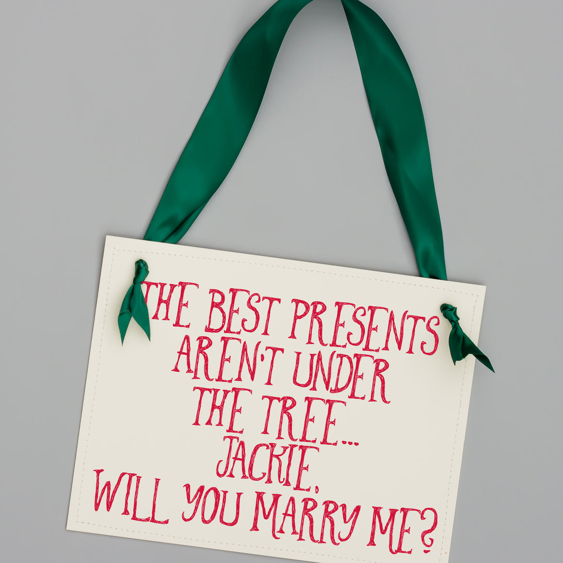 Best Presents Aren't Under The Tree Christmas Proposal