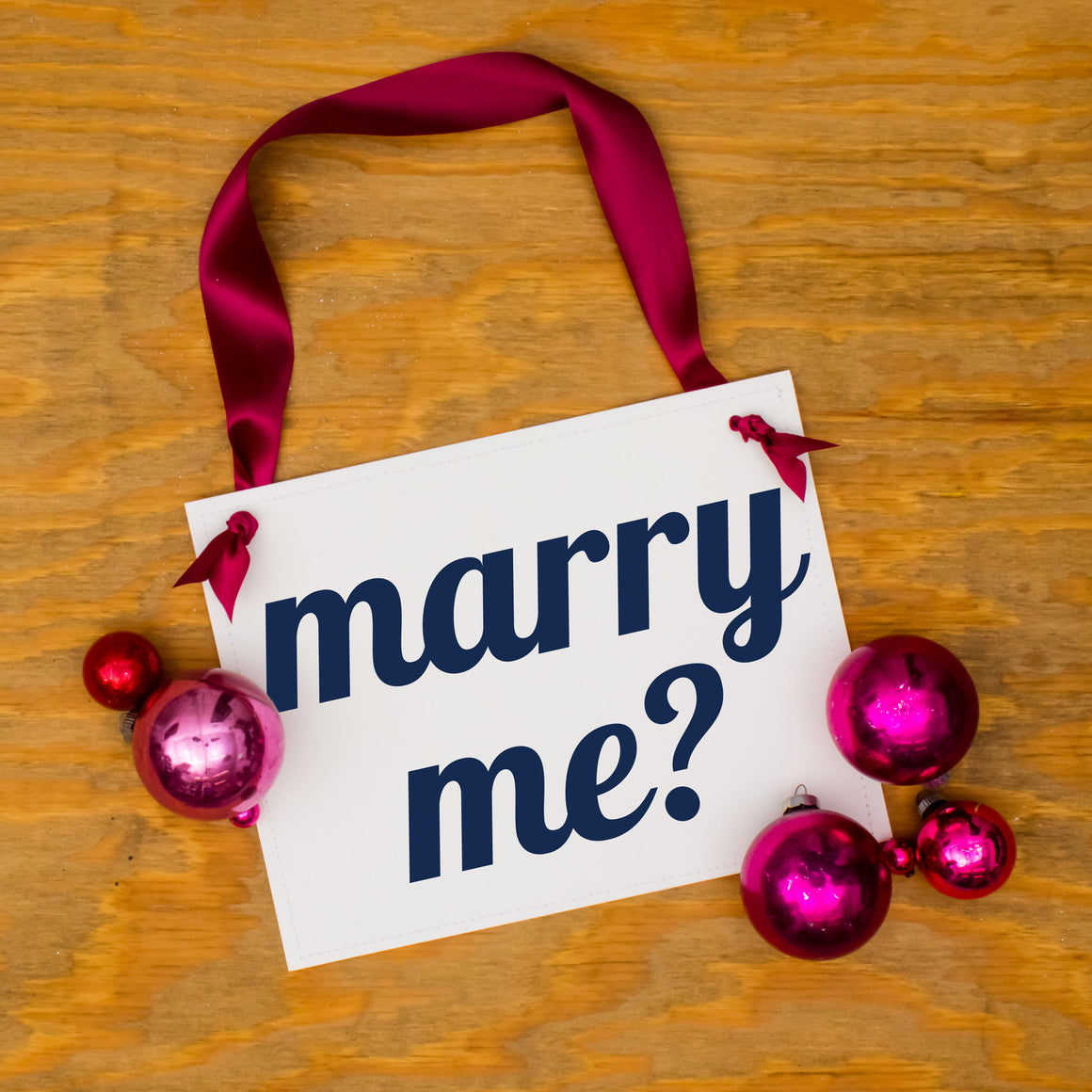 marry me proposal sign