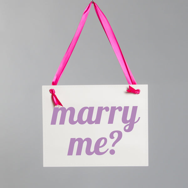 Marry Me? Modern Sign