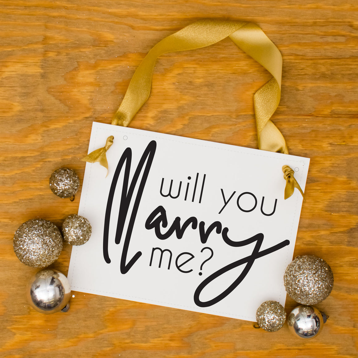 Will You Marry Me Modern Sign