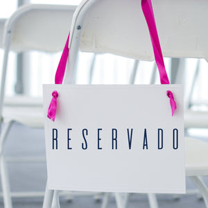 Reservado Spanish Chair Sign