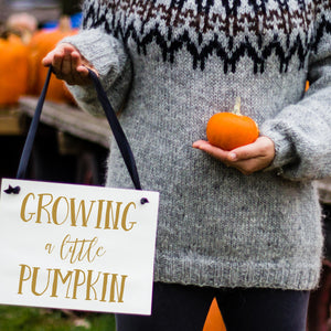 Growing A Pumpkin Fall Pregnancy Announcement