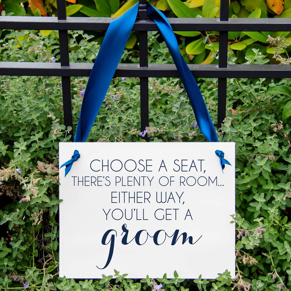 Choose A Seat, There's Plenty of Room... Either Way You'll Get A Groom