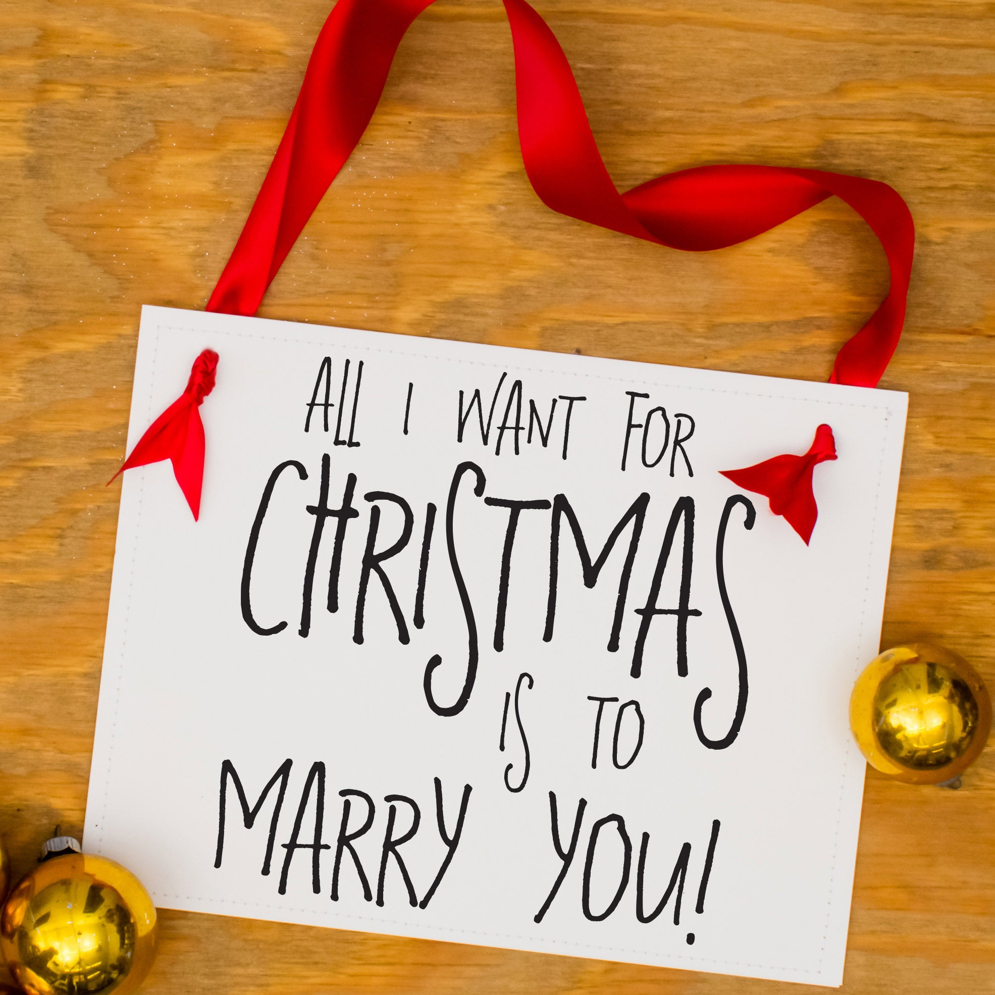 All I Want for Christmas Is To Marry You Proposal Sign Xmas ...