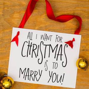 All i want for Christmas is to marry you sign