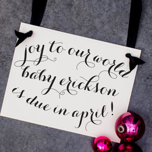 Joy To our world baby sign