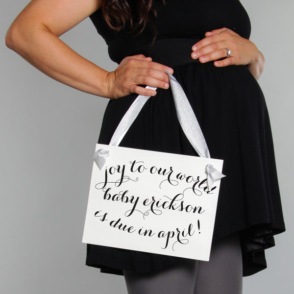 Joy To Our World Baby Announcement Sign