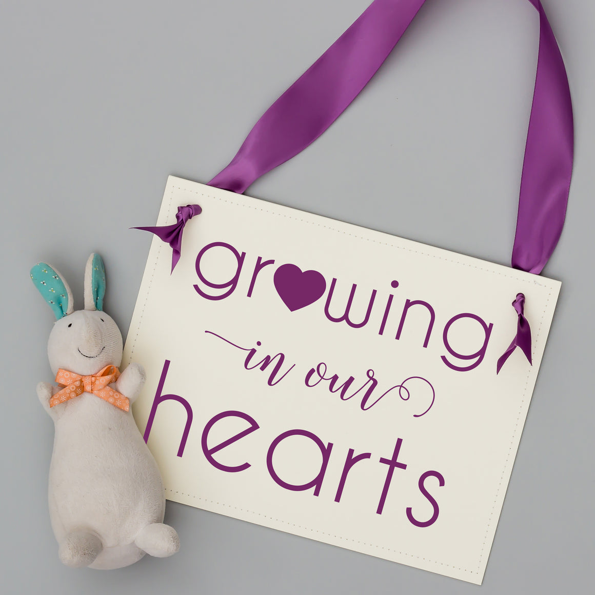 Growing in our hearts sign