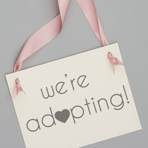 We're Adopting Announcement