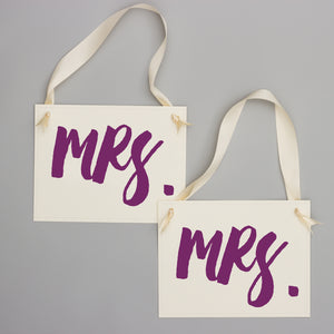 Mrs. & Mrs. Chair Banners | Set of 2