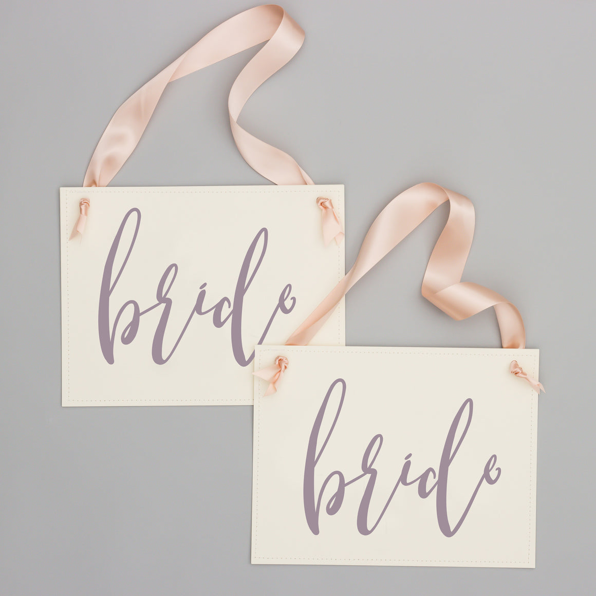 Bride & Bride Wedding Chair Signs | Set of 2