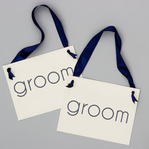 groom and groom chair signs