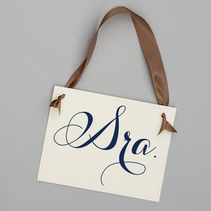 Sr. & Sra. Spanish Wedding Chair Signs