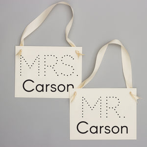 mr and mrs custom wedding signs