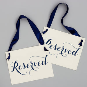 Reserved Signs (Set of 2)