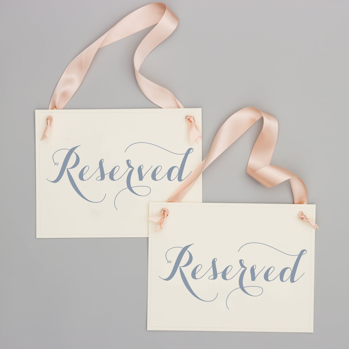 set of 2 reserved signs for wedding ceremony event