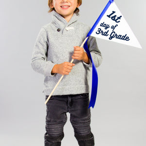 1st Day of Kindergarten Pennant Flag