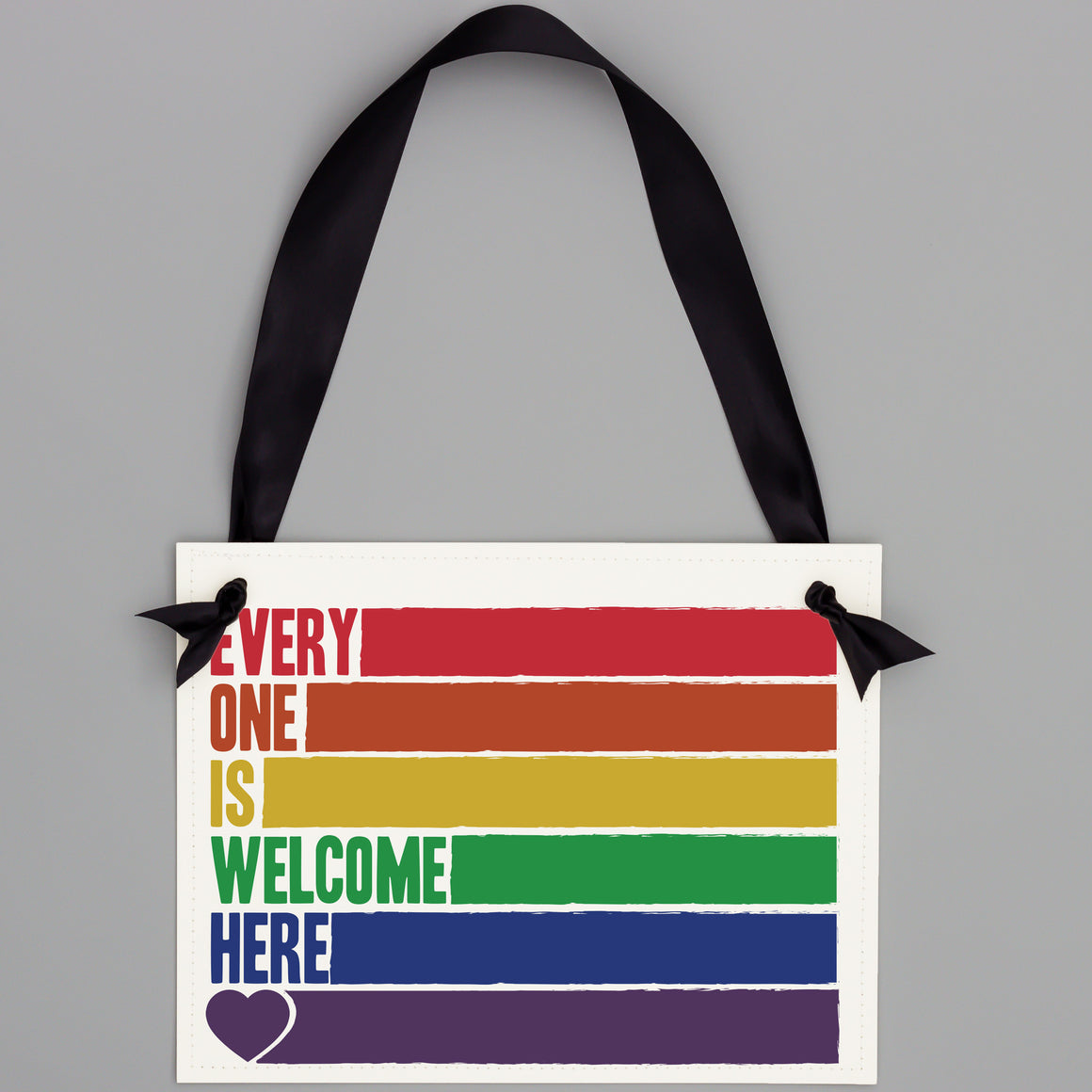 Everyone Is Welcome Here Rainbow Sign for Businesses