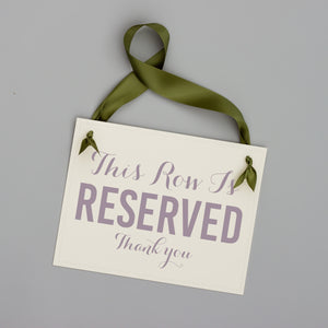 Reserved Row Sign