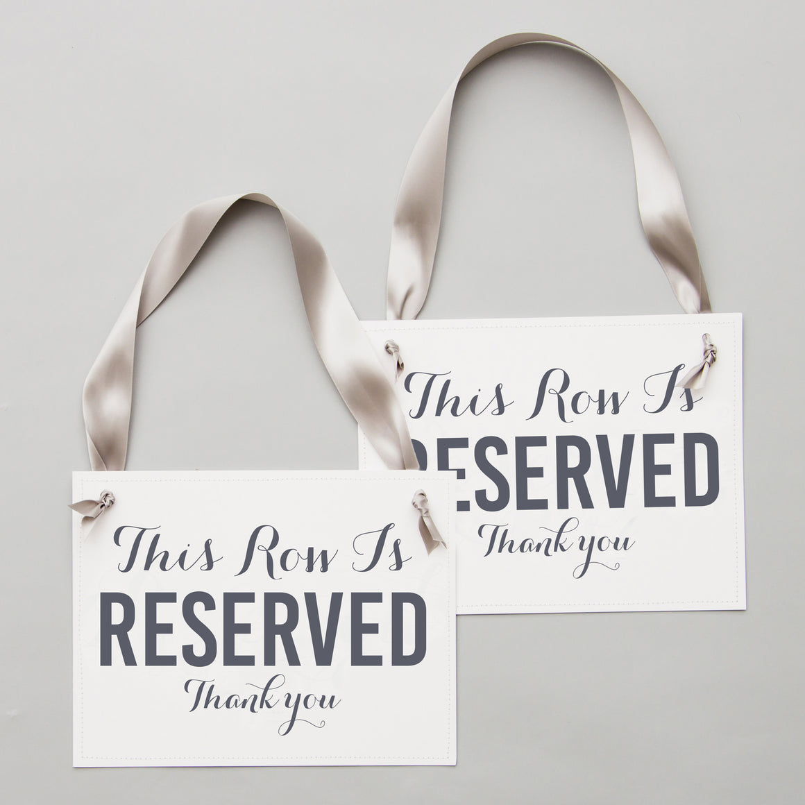 Set of 2 Reserved Row Signs