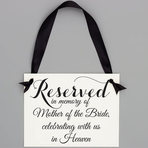 Personalized Memorial Chair Sign