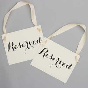 Reserved Chair Signs | Black & Ivory (Set of 2)