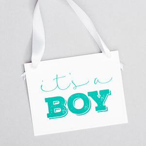 It's A Boy / It's A Girl Double Sided Gender Reveal Sign