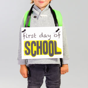First Day + Last Day of School Banner | Schoolbus Graphic