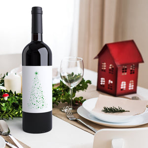 Christmas Wine Labels - 4 Pack