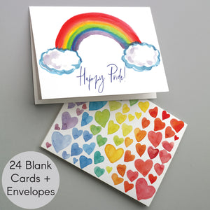 Gay Pride Cards LGBT - 24 Pack
