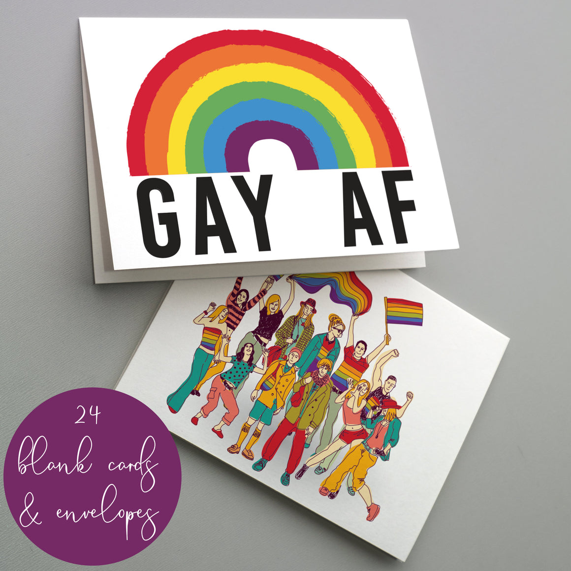 Gay Pride Funny Cards LGBT - 24 Pack
