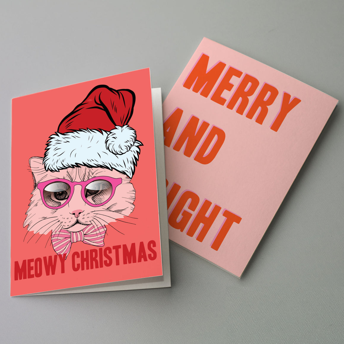 Girly Pink Christmas Cards - 24 Pack