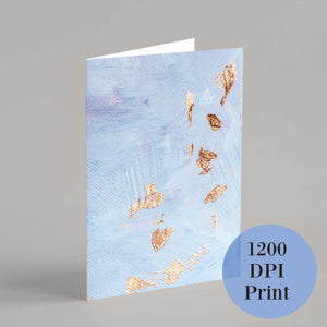 Pastel Lavender & Gold Blank Greeting Cards - 24 Pack