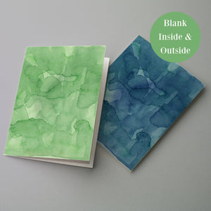 Rainbow Watercolor Blank Greeting Cards - 24 Pack