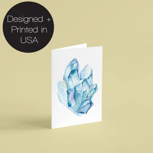 Gemstone Blank Crystal Greeting Cards - 24 Pack