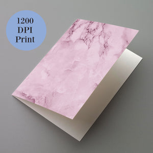 Blush Pink Granite Blank Greeting Cards - 24 Pack