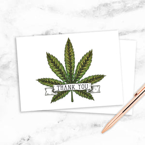 Cannabis Thank You Cards - 12 Pack